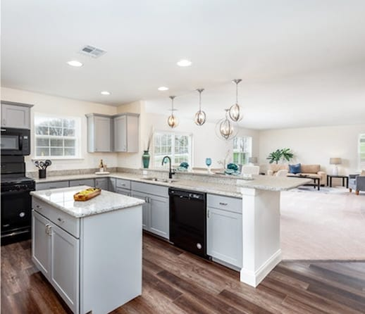 interior kitchen in large home